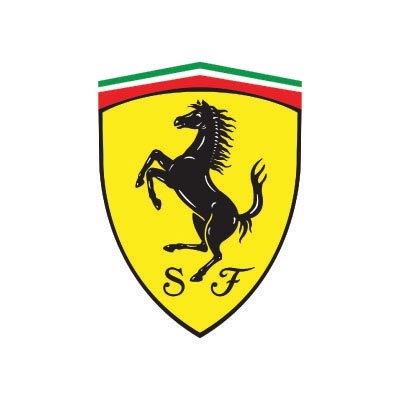 Custom ferrari logo iron on transfers (Decal Sticker) No.100171
