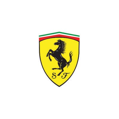 Custom ferrari logo iron on transfers (Decal Sticker) No.100175