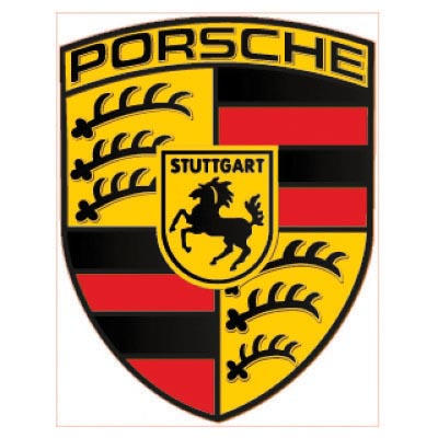 Custom porsche logo iron on transfers (Decal Sticker) No.100264