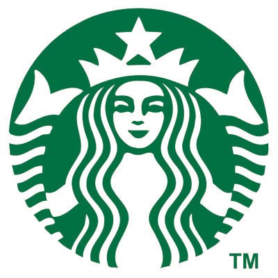 Custom starbucks logo iron on transfers decal sticker no 100444