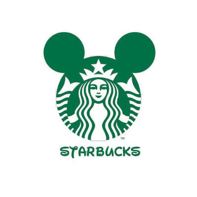 Custom starbucks logo iron on transfers decal sticker no 100445