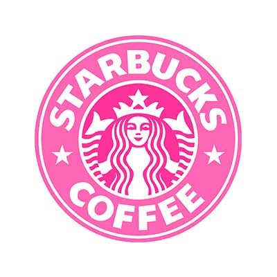Custom starbucks logo iron on transfers decal sticker no 100820
