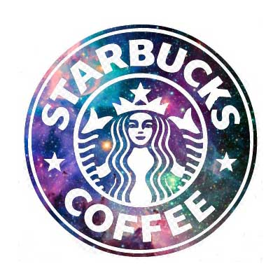 Custom starbucks logo iron on transfers decal sticker no 100821