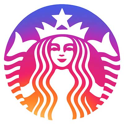 Custom starbucks logo iron on transfers (Decal Sticker) No.100822