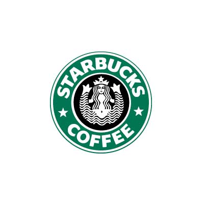 Custom starbucks logo iron on transfers decal sticker no 100825