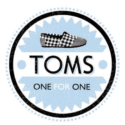 Custom toms logo iron on transfers (Decal Sticker) No.100650